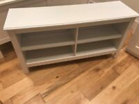 IKEA BRUSALI TV bench White, Assembled but in near new condition