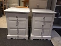 Pair of solid pine bedside tables cabinet