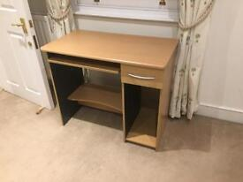 Used desk with drawer and keyboard tray