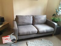 John Lewis two seater sofa charcoal grey - good condition