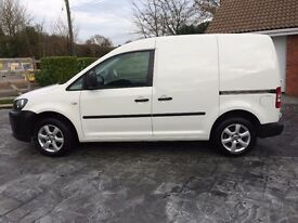 Volkswagen Caddy Van. 1.6 TDI, C20, panel van, 4-door, white.