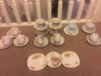 REDUCED!! Vintage Teacups , saucers, side plates x29 pieces