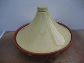 Large Glazed Terracotta Moroccan Style Tagine Cook Pot