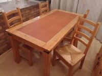 Dining table with 4 chairs - Spanish style