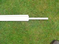 10mm White Polycarbonate Sheet Closure 2.1mtr long