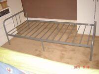 Single metal bed frame for sale
