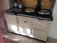 AGA - 4 oven GAS AGA. Cream. £2250