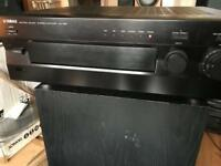 Yamaha 210w natural Sound amp receiver hifi separates with remote
