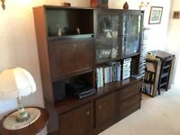 Mahogany dining table and 6 chairs plus matching large dresser/ display cabinet