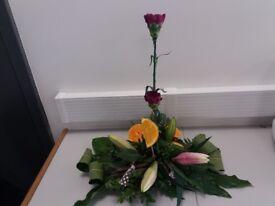 Fresh Flower Line arrangement buy asp
