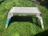 Foldable work trestle, step, workbench