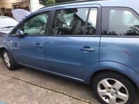 Vauxhall ZAFIRA 1.6 MPV 7 SEATER BLUE PETROL 2008 1 OWNER