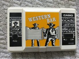 Western Bar - Classic 1980s Handheld LCD game by Casio