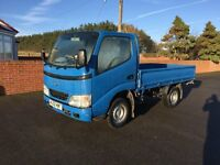 TOYOTA DYNA 300 DIESEL DROPSIDE, 2002 (52) REG, TESTED, 10ft ALLOY DROPSIDE, CD PLAYER, IN BLUE,