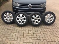 VW T5 Factory Alloy Wheels and Tyres 16 inch