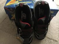 BOYS ZSTRAP SKECHERS SHOES / TRAINERS SIZE 12 brand new with box