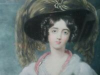 Engraving of Julia, Lady Peel. Mezzotinto + hand painted, 1913