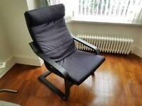Black ikea poang chair