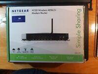 NETGEAR N150 Wireless ADSL+2 Modem Router DGN1000.