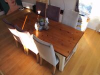 John Lewis of Hungerford 2m long solid oak dining table with drawers
