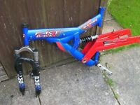 "Saxon ""Fast Back"" Front and Rear suspension 19"" Mountain bike Frame, (Suitable for 26"" wheels)"