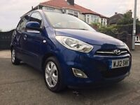 2012 HYUNDAI i10 1.2(FACELIFT),5DOORS,£30/YEAR ROAD TAX,ONE OWNER,55000 GENUINE LOW MILES,HPI CLEAR