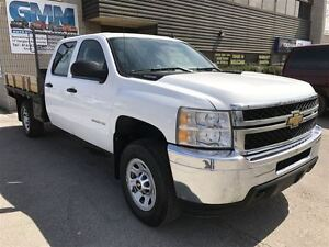 2011 Chevrolet SILVERADO 3500HD WT Crew Cab Flat Bed Wood Deck 4
