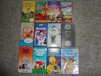 Lot of 12 Children's VHS and DVD
