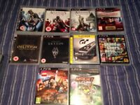 18 Playstation 3 games (Including GTA 5, L.A Noire, Skyrim, Uncharted 3)