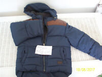 WARM LINED BLUE ZIP UP CHILDS JACKET-WARM JUMPER,TSHIRTS,SOFT TEDDY FLEECE ROBE-ALL AGE 4-5 YEARS