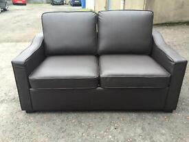 Brand new***Quality brown leather sofa bed-- ONLY £320