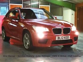2012 BMW X1 20d, 4x4 M-SPORT XDrive, One Owner, Low Mileage, Six-speed, Leather, Two Keys, Climate