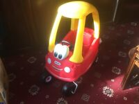 Little Tikes Cozy Coupe sit in car