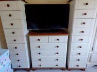 2 x tall drawers & 6 drawer set