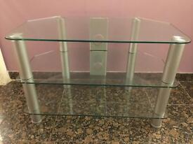 Glass TV Media Stand Unit 3 tier