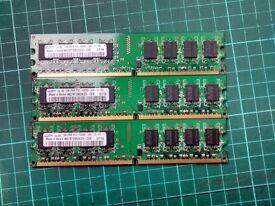 3 x 1GB DDR2 PC2 5300 Desktop RAM