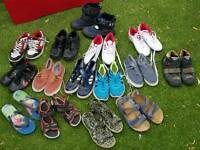 Boys shoes bundle sizes from 13 to 2