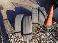 4 Michelin tyres from Merc Vito 195/65R 16 C......104/102 R about 3 mm left ..see pics