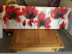 Red flower canvas