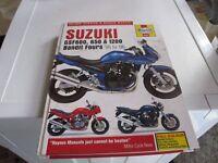 SUZUKI BANDIT GSF600, 650 & 1200 HAYNES MANUAL