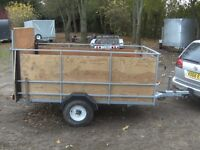 8X4 GOODS TRAILER WITH FULL RAMP-TAIL 750KG UNBRAKED..