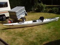 """RARE YTM """"MIDWAY"""" SUPERIOR SIT ON TOP KAYAK, FAST TOURING, FISHING, LONGER/HIGHER QUALITY. + EXTRAS"""