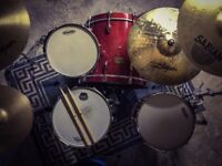 Pearl Masters Studio Drums - Red Sparkle - *Near Mint Cond.* (boxed with mounts & tom arms)