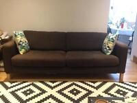 Ikea brown 3 seater sofa