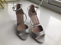 Carvela silver heels