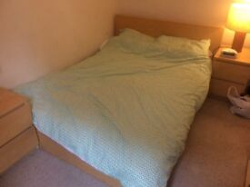 Ikea malm double bed with sultan mattress