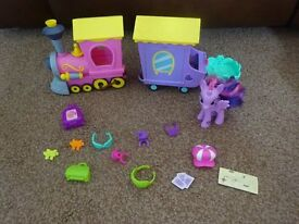 My Little Pony Explore Equestria Friendship Express Train Playset as New £5 ideal gift