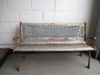 TRADITIONAL STYLE SLATTED GARDEN BENCH FOR REFURB