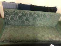 Green Patterned Settee