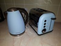 Morphy Richards Azure Kettle and Toaster, excellent condition